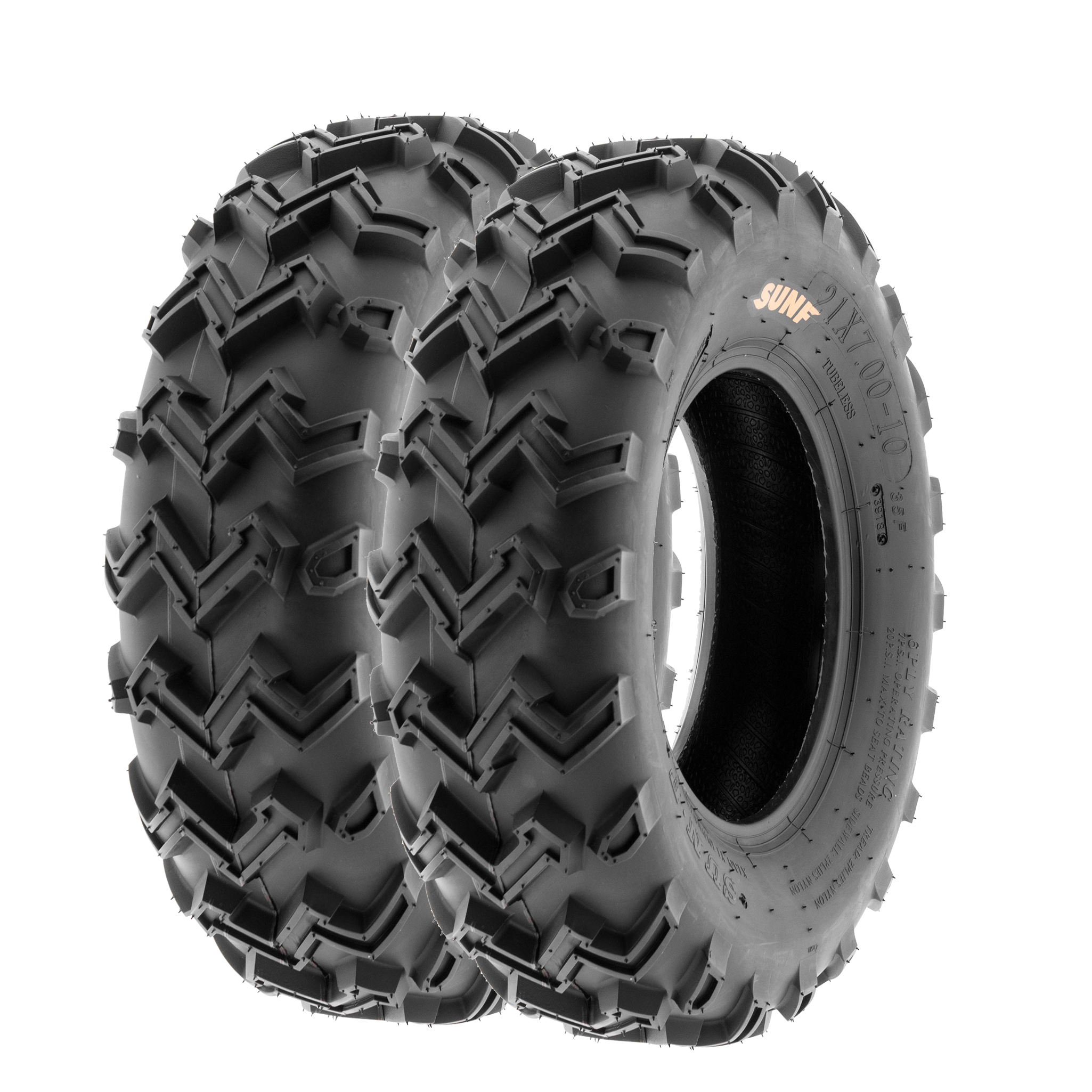 Details about SunF 21x7-10 ATV UTV Tires 21x7x10 All Terrain Tubeless 6 PR  A001 [Set of 2]