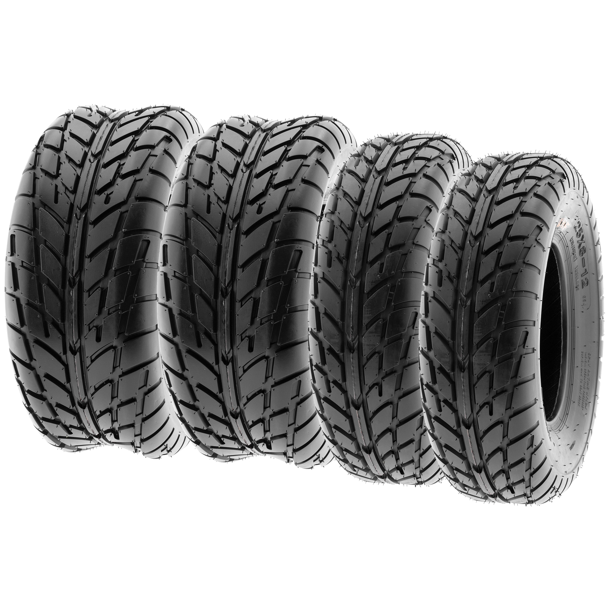 25x8-12 /& 25x10-12 ATV UTV All Terrain AT 6 Ply Tires A033 by SunF Set of 4