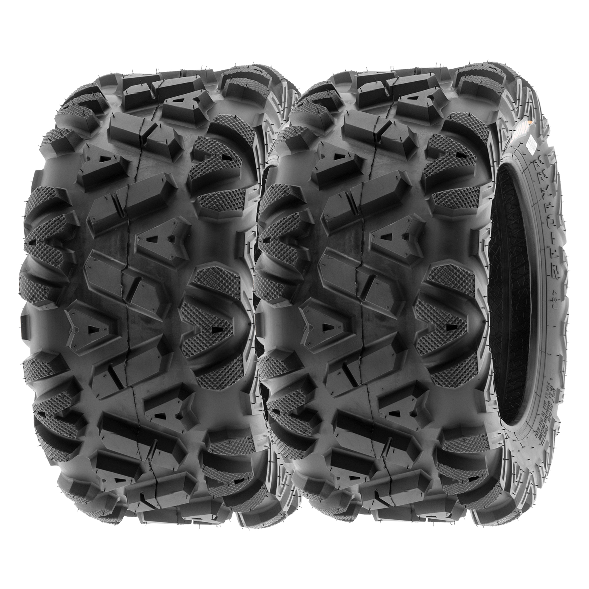 Set of 2 SunF Tubeless ATV Tires 19x7-8 19x7x8 All Terrain 6 Ply A027